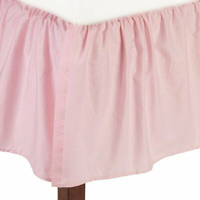 American Baby Company 100% Cotton Percale Ruffle Crib Skirt, Pink
