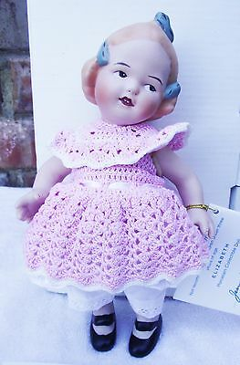New Jeannie Di Mauro Elizabeth Antique Reproduction Doll Gerbruder Huebach Mini