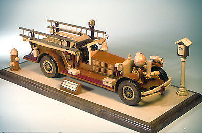 A plan to build a firetruck in wood.  A detailed 1927 fire engine