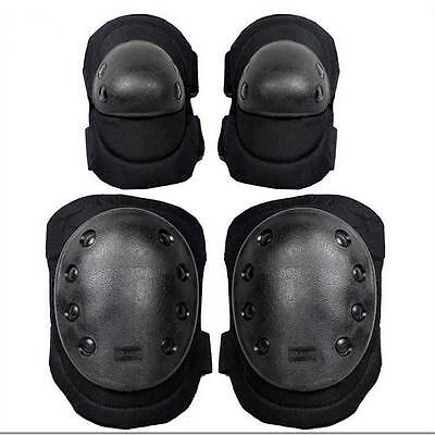 Military Tactical Combat CS Equipment Cycling Skating Protect Knee Elbow Pad Set