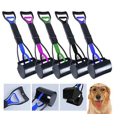 Easy Clean Pet Cat Dog Waste Picker Pikup Pooper Scooper Jaw Poo Grabber Remover