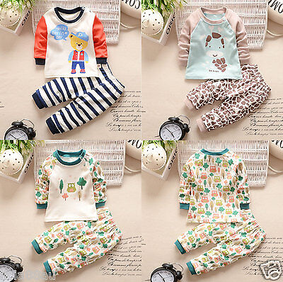 Newborn Unisex Clothes Baby Sets Infant Soft Long Sleeves Cotton Pants T Shirts