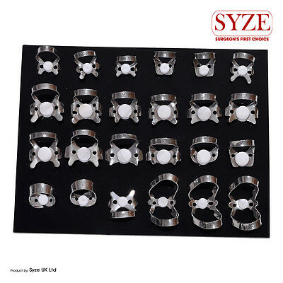 SYZE Dental Endodontic 24Pcs Rubber Dam Clamps Orthodontic Instruments Lab CE