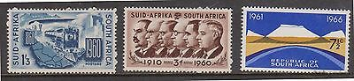 (KPI-113) 1960-66 South African mix of 3 3d, 1/3d &7½c MUH