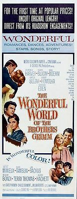 WONDERFUL WORLD OF BROTHERS GRIMM 1962 Claire Bloom US INSERT POSTER