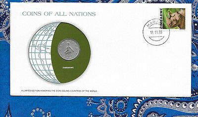 Coins of All Nations Zimbabwe 20 Cents 1980 UNC