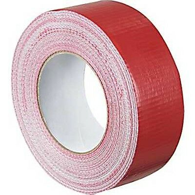"""Duck RED Duct Gaffa Gaffer Waterproof Cloth Tape 48mm 2"""" x 50 m strong 1 2 3"""
