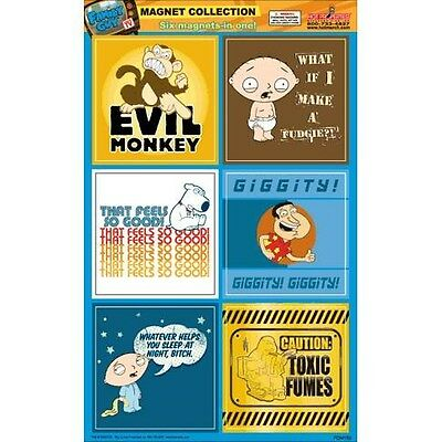 Family Guy Six Piece Collectible Magnet Set (Evil Monkey)