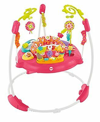 Fisher-Price BOUNCER, 360 Degree Music Lights & Sounds JUMPEROO, Pink Petals