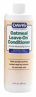 Davis Oatmeal Leave-On Dog Cat Pet Conditioner 12 oz. 355ml