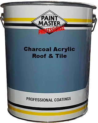 Paintmaster Heavy Duty Acrylic Roof And Tile Paint - Charcoal - 20 litres