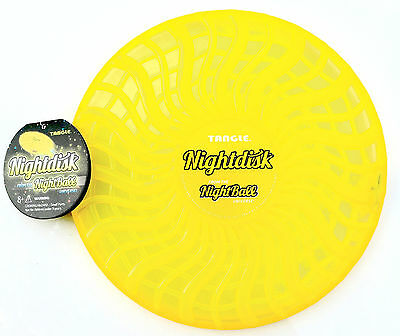 Tangle Nightdisk From Makers of Nightball Light Up for after Dark Play-Yellow