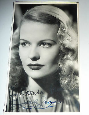 Sally Gray Film Actress Hand Signed publicity Photograph 5 x 3