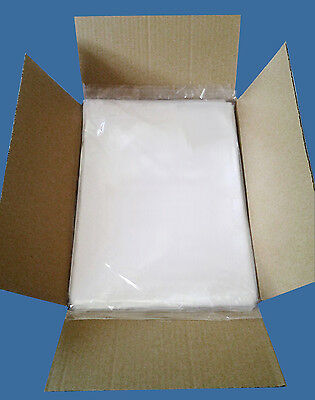 """1000 1.5-Mil 7x10"""" Clear Poly Bags Lay-flat Open Top Plastic Baggies Case"""