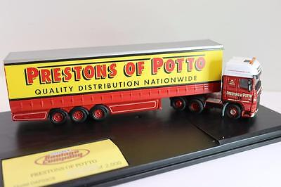 OO Oxford DAF truck & closed Trailer Prestons of Potto DAF03CS  FNQHobbys (0X088