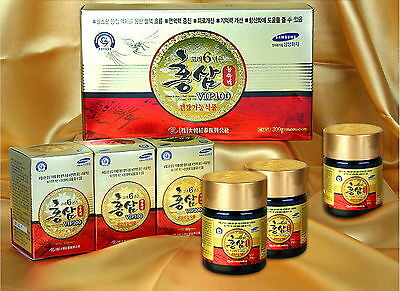 100% PURE 6 Years KOREAN RED GINSENG Extract 300g(10.6 oz) 3 Bottle X100g/Panax