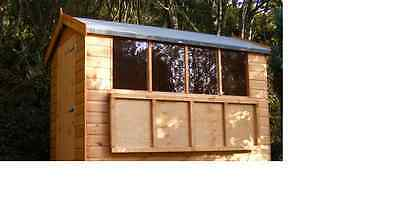 3mm CLEAR 610 x 610 Acrylic Shed Greenhouse Windows Plastic Sheet Perspex Glass
