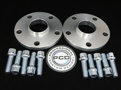 Pair 5x112 Hubcentric Spacers, 25mm Wide 57.1CB 10 Wheel Bolts VW AUDI UK Made