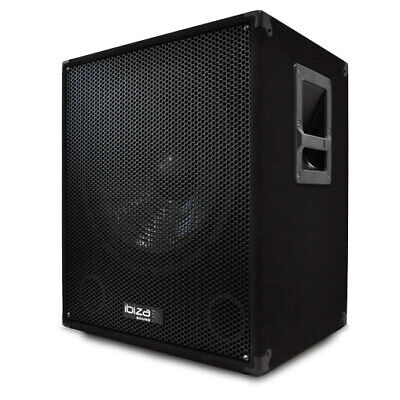 Ibiza Aktiv Dj/pa Subwoofer 38Cm Bass Party Box 800W Party Sound Bi Amp Sub Neu