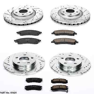 Power Stop K3022 Front Z23 Evolution 1-Click Brake Kit for Infinti G35//G37
