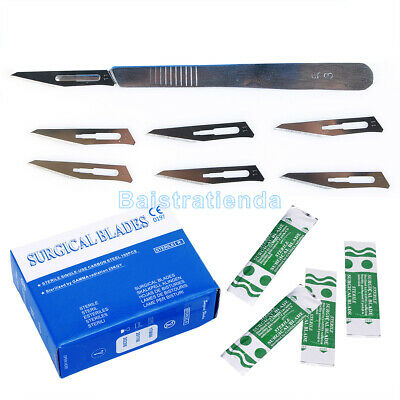 100Pcs/Box Dental Surgical Scalpel Blades 11# + 1 Piece Scalpel Handle #3
