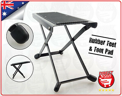 Guitar Foot Rest 4 Adjustable Heights Sturdy Metal Frame Rubber Foot Pad GFS20
