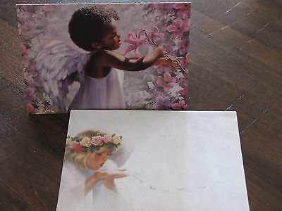 Tree Free Greeting Card - Young Angel Picking Flowers