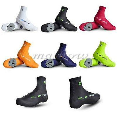 1 Pair Bicycle Windproof Shoe Covers Bike Cycling Zippered Overshoes Sportwear