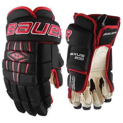 New Bauer Nexus 800 Gloves Colour Black/red Size-Junior