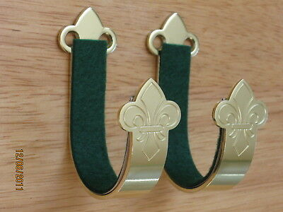 Ted Cash Brass Gun Hangers with a Polished Finish