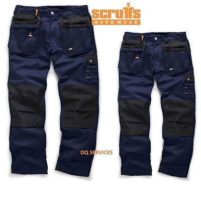 Scruffs WORKER PLUS Trousers NAVY BLUE Combat Cargo work Pants VALUE TWINPACK