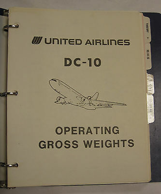 DC-10 Original Operating Gross Weights Manual-Major Airline