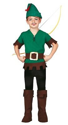 Boys Forest Thief Robin Hood TV Film Book Day Fancy Dress Costume Outfit 5-12yrs