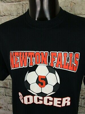 NEWTON FALLS SOCCER T Shirt #5 Jerzees Ohio USA Match Fan Ball Soccer Football