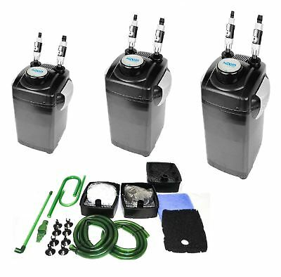 Hidom Aquarium Fish Tank External Canister Filter & Media 1000/1200/1500 LPH