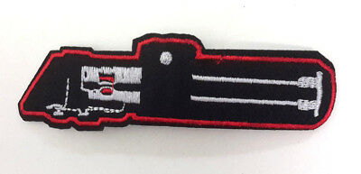 """Star Wars Darth Vader's Light Saber 4.5"""" Embroid Patch- USA Mailed (SWPA-FC-33)"""