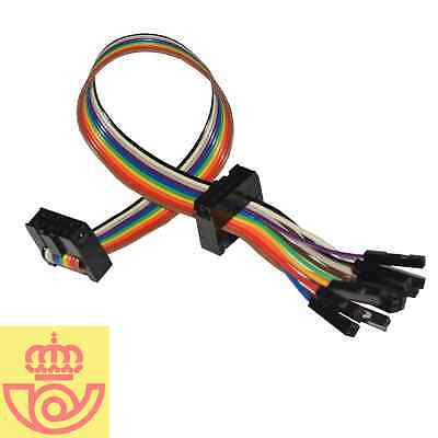 Cable Bus Pirate 2x IDC 2x5 + 10 Dupont H (Arduino, Prototipos)