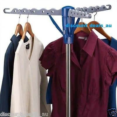 Clothes Airer Dryer Drying Rack Foldable Garment Hanger Laundry Camping S/Steel