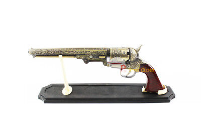 Western Cowboy Black Powder Outlaw Revolver Pistol Replica Gun w/ Stand NEW