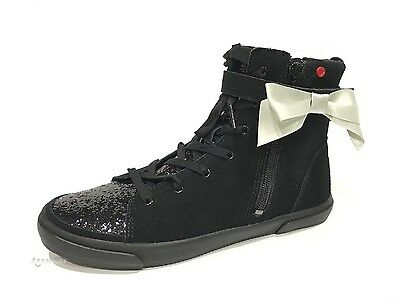 eeb899f5155 UGG I HEART Hi Top Glitter Ankle Boots Sneakers Black Suede -Youth 5 ...