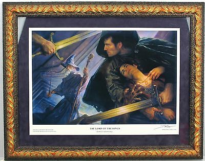 *Signed* Donato Giancola THE LORD OF THE RINGS 2000 Framed Giclee Art Print