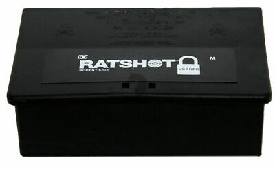 Ratshot Rat Mice Poison Bait Station Tamper Resistant Locked Large qty DISCOUNT