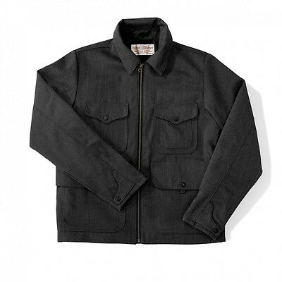 FILSON Men's Bell Bomber Jacket, Whipcord Wool - Made in USA