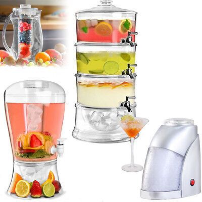 2.7L Fruit Infusion Pitcher Jug Core Flavour Infuser Or Electric Ice Crusher New