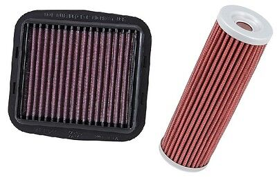 K&N Race Air Filter + Oil Filter Custom 12-14 Ducati 1199 Panigale S R DU-1112R