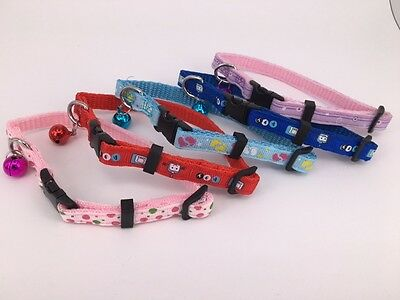 Cat / Pet Adjustable Collar With Removable Bell