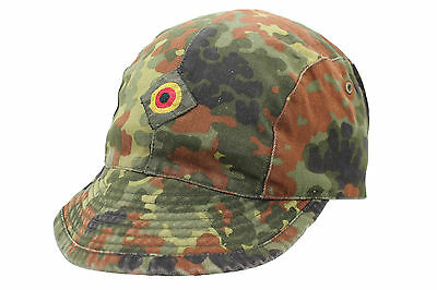 Genuine German Army Issued BW BUNDESWEHR Flecktarn Camo Lightweight Field Cap