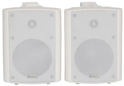 Adastra 170.165 Pair Mains Powered Amplified Stereo Speakers 30w Max Power White