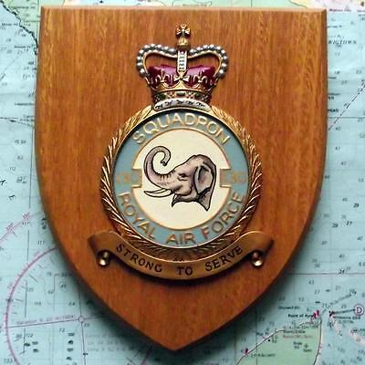 Old RAF Royal Air Force 130 Squadron / Station Crest Shield Plaque