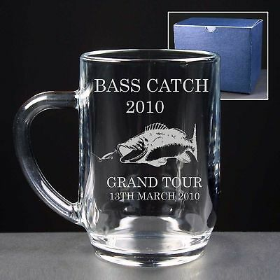 Personalised Engraved Tankard Bass Carp Trout  Sea Fishing Trophy Gift
